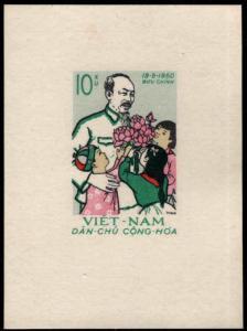North Viet Nam Scott 130 Ho Chi Minh souvenir sheet NGAI