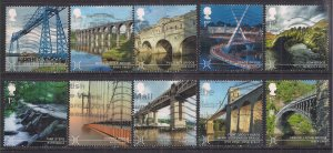 GB 2015 QE2 Set Bridges 10 x used SG 3687 - 3695 ( D76 )