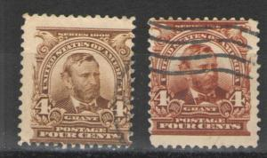 US 1903 Sc# 303  Used Avg/G - Different shades