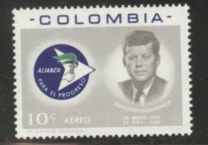 Colombia  Scott C455 MNH** JFK airmail stamp 1963