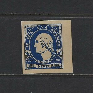 UNITED STATES - 1933 IF IT'S USA STAMPS SEE HERST FIRST POSTER STAMP MNH