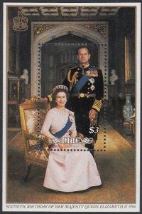Niue 1986 MH Sc #514 $3 QEII, Prince Philip QEII's 60th Birthday