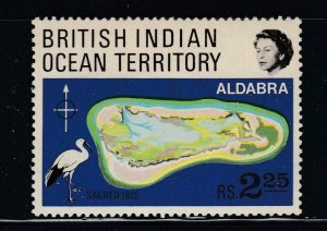 BRITISH INDIAN OCEAN TERRITORY # 34-43 VF-MLH VARIOUS ISSUES CAT VALUE $49.95