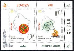 Montenegro Sc# 158a MNH Souvenir Sheet 2007 Europa