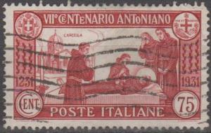 Italy #263 F-VF Used CV $16.00 (B12407)