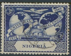 Nigeria  SG 65 SC# 76  Used UPU 1949 please see scan