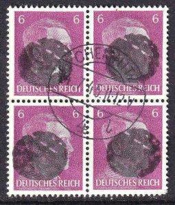 GERMANY 510 BLOCK 4 LOCAL SCHWÄRZUNGEN CHEMNITZ OVERPRINT CDS VF #2
