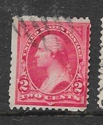 US# 250 2c Washington,Carmine, type I  (U) CV $3.00
