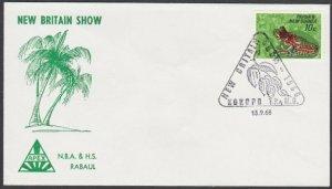 PAPUA NEW GUINEA 1968 cover - Kokopo New Britain show commem cancel.........N675