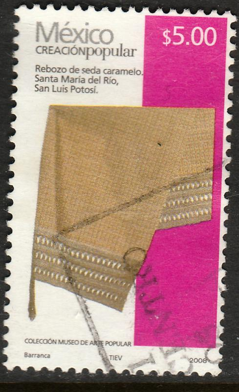 MEXICO 2493c, $5.00P HANDCRAFTS 2008 ISSUE. USED. F-VF. (1523)