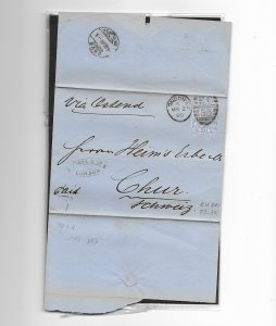 1880  TO GERMANY BEARING 21/2dBLUE PLATE 18