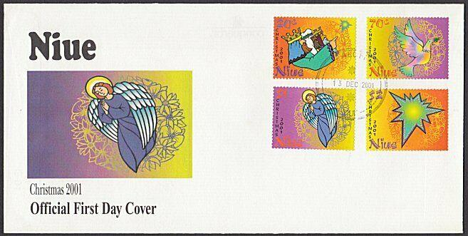 NIUE 2001 Christmas set FDC................................................27823