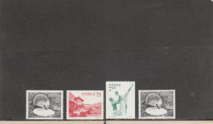 SWEDEN 1139-1142 MNH 2014 SCOTT CATALOGUE VALUE $4.35