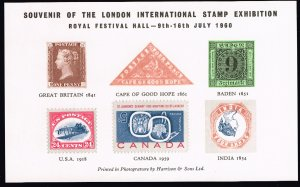 UK STAMP 1960 LONDON EXHIBTION MNH S/S