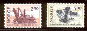 NORWAY 869-870 MNH PORT AUTHORITIES 1985