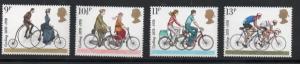 Great Britain Sc 843-46 1978 British Bicycles stamp set mint NH