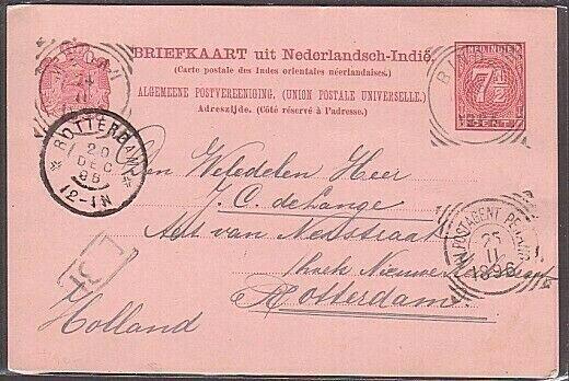 MALAYA 1896 Netherlands Indies postcard N.I.POSTAGENT PENANG sq circle.....34608