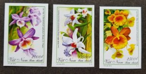 *FREE SHIP Vietnam Orchids 2013 Flowers Flora Plant (stamp) MNH *imperf