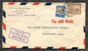 d857 - COLOMBIA 1934 Airmail Cover to USA