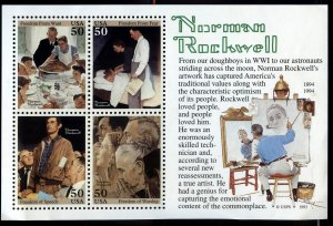 #2840 50c Norman Rockwell - XF og NH - w/FREE SHIPPING