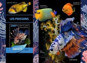 DJIBOUTI / 2019 Fishes.Blok.Imperf.