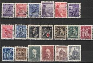 Germany - Bohmen und Mahren 1943-44 Collection Used VG/F - semi postals