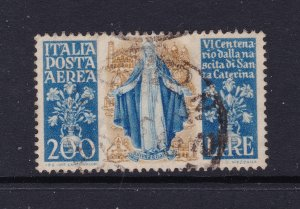 Italy a 200L used Air stamp from 1948