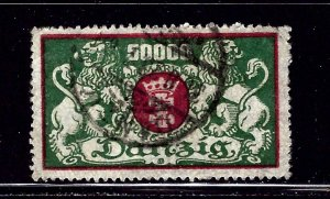 Danzig 125 Used 1923 issue