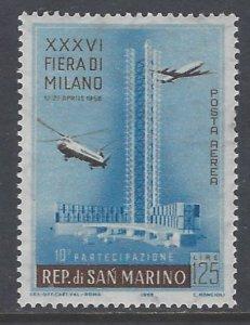 San Marino, Scott #C97; 125l Milan Fair, MH