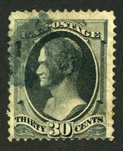 1873 Scott 165 30 cent Hamilton used