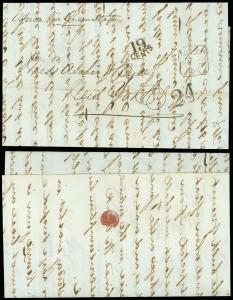 1861 Transatlantic, LONDON to ARCHER & BULL, NYC, Steamer AFRICA via QUEENSTOWN!