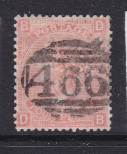 Great Britain a used QV 4d plate 8