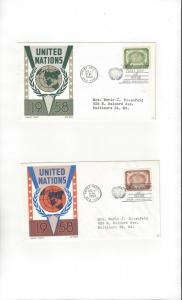 United Nations 67-8  Human Rights  Cachet Craft Ken Boll FDC