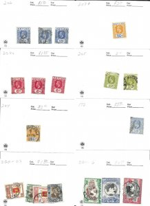 Ceylon Lot of 18 Stamps CAT $23.00