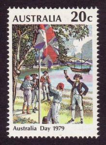 AUSTRALIA Sc#695 Australia Day, Sydney Cove Flag Ceremony (1979 ) MNH