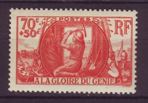 J24624 JLstamps 1939 france set of 1 mnh #b82 army engineers