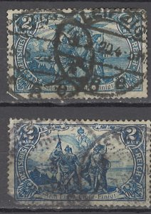 COLLECTION LOT OF #1157 GERMANY  # 76 * 2 UNWTMK 1902 (BOTTOM FAULTY) CV = $195