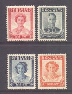 Southern Rhodesia Scott 67/70 - SG64/67, 1947 Victory Set MNH**