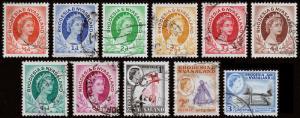 Rhodesia & Nyasaland Scott 141 // 162 (1954-59) Used H F-VF Y
