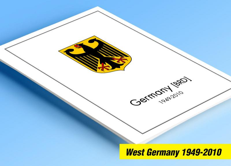 COLOR PRINTED GERMANY 1949-2010 STAMP ALBUM PAGES (269 illustrated pages)