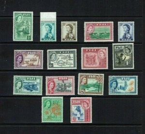 Fiji: 1954 Queen Elizabeth II definitive set, Mint lightly hinged.