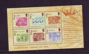 Guernsey Sc 843a 2004 Crown Loyalty stamp sheet  NH