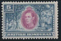 British Honduras  SG 154 SC # 119  Used  Mauve purple shade please see scan