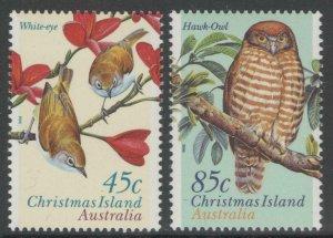 CHRISTMAS ISLAND SG428/9 1996 BIRDS MNH