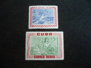 Stamps - Cuba - Scott#B3, CB1 - Mint Hinged Set of 2 Stamps