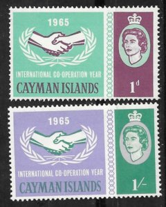 Cayman Is. # 174-75  Int'l Cooperation Year  (2)    Mint NH