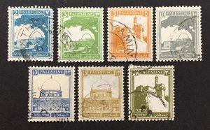Palestine 1927-42 #63//77(7), Views, Used.