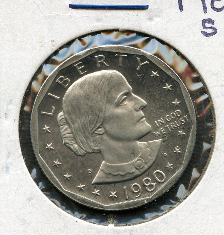 UNITED STATES 1980-S PROOF SUSAN B. ANTHONY  DOLLAR HAVE FUN BIDDING