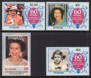 St Vincent 923-926 Queen Elizabeth II MNH VF