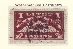 Lithuania Sc CB4 1924 Airmail Charity stamp used